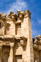 The Nymphaeum, Once the Roman city of Gerasa, Jerash, Jordan Fine Art Print