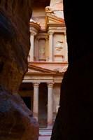 Jordan, Petra, Treasury (Al-Khazneh), Siq, tomb Fine Art Print