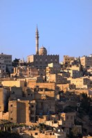 Aerial view of traditional houses in Amman, Jordan Fine Art Print