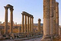 Column street in ancient Jerash ruins, Amman, Jordan Fine Art Print