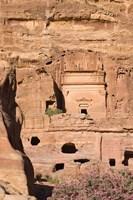 Uneishu Tomb, Petra, Jordan Fine Art Print