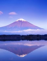 Mt Fuji with Lenticular Cloud, Motosu Lake, Japan Fine Art Print