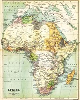 Map of Africa 1885 Framed Print