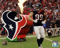 J.J. Watt On Football Field Fine Art Print