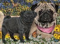 Garden Pugs Fine Art Print