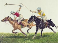 Polo action Framed Print