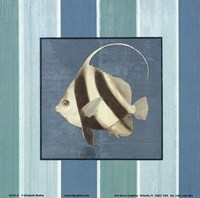 Fish on Stripes I Fine Art Print