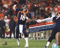 Peyton Manning becomes the NFL's All-Time leader in career Touchdown Passes- October 19, 2014 Fine Art Print