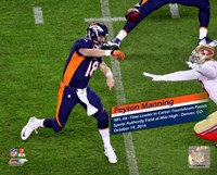 Peyton Manning NFL's All-Time leader Touchdown Passes Fine Art Print