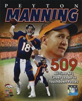 Peyton Manning NFL All-Time leader in career Touchdown Passes 509 Fine Art Print