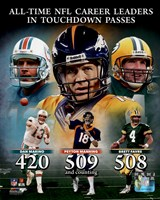 Peyton Manning NFL All-Time leader in career Touchdown Passes Composite Fine Art Print