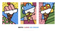 I Love Ice Cream Framed Print