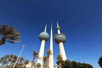 Kuwait, Kuwait City, Kuwait Towers Fine Art Print