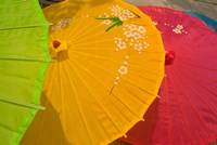 Birghtly Colored Parasols, Bulguksa Temple, Gyeongju, South Korea Fine Art Print