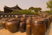 Traditional Korean House, Namsangol Hanok Village, Seoul, South Korea Fine Art Print