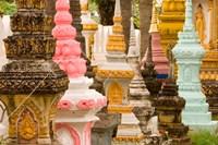 Grave Stupas at Wat Si Saket, Vientiane, Laos Fine Art Print