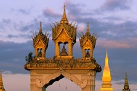 Asia, Laos, Vientiane, That Luang Temple Fine Art Print