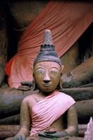 Buddha in Sanctuary, Wat Phu Khmer, Champasak, Laos Fine Art Print