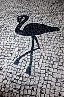 China, Macau Portuguese tile designs - flamingo, Senate Square Fine Art Print