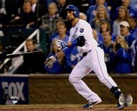 Omar Infante Game 2 of the 2014 World Series Action Fine Art Print