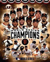San Francisco Giants 2014  World Series Champions Composite Framed Print