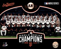 San Francisco Giants 2014 World Series Champions Team Sit Down Framed Print