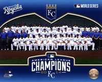 Kansas City Royals 2014 American League Champions Team Sit Down Framed Print