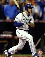 Mike Moustakas Game 6 of the 2014 World Series Action Fine Art Print