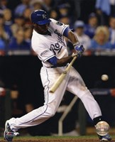 Lorenzo Cain Game 6 of the 2014 World Series Action Fine Art Print
