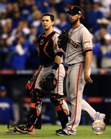 Buster Posey & Madison Bumgarner Game 7 of the 2014 World Series Fine Art Print