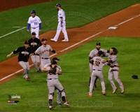 San Francisco Giants celebrate winning Game 7  the 2014 World Series Fine Art Print