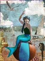 Beach Mermaid Fine Art Print