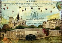 Notre Dame Balloons Fine Art Print