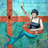 Puget Sound Mermaid Fine Art Print