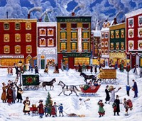 Christmas On Main Street Fine Art Print