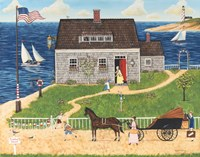 Grandma's Seaside Cottage Fine Art Print
