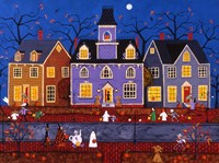 Halloween In Pleasantville Fine Art Print