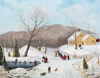 Winter At The Old Homestead Fine Art Print