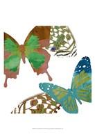 Scattered Butterflies I Fine Art Print
