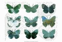 Layered Butterflies I Fine Art Print