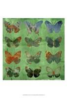 Butterflies on Green Fine Art Print