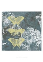 Indigo & Wings I Framed Print