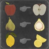 Blackboard Fruit II Framed Print