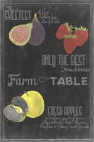 Blackboard Fruit III Framed Print
