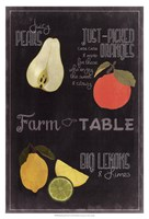 Blackboard Fruit IV Framed Print