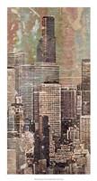 Washed Skyline II Framed Print