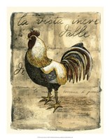 Tuscany Rooster II Framed Print