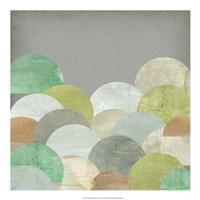 Scalloped Landscape II Framed Print