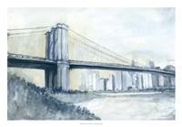 City Bridge I Framed Print