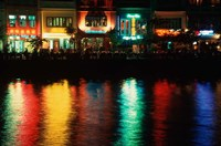Popular night spot at Boat Quay. Fine Art Print